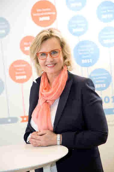 Camilla Westerlund, kommunikationsdirektör, Samfundet Folkhälsan. Foto: Folkhälsan/Hannes Victorzon