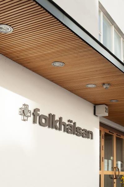 Folkhälsans huvudingång i Helsingfors. Foto: Folkhälsan/Jonas Jernström