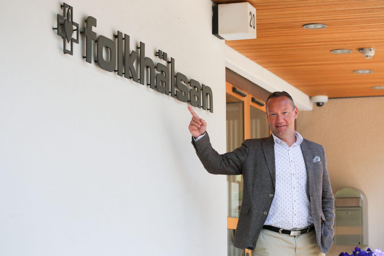 Johan Johansson vd för Folkhälsans nygrundade fastighetsbolag. Foto: Folkhälsan/Mira Honkavaara