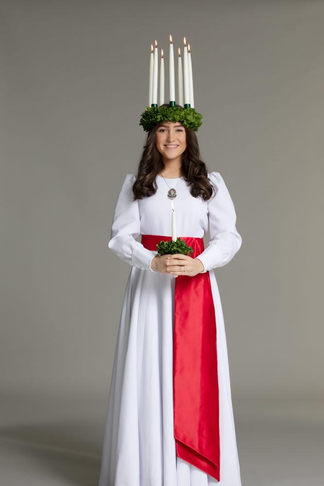 Finlands Lucia 2020 Ingrid Enckell, foto: Folkhälsan/Henrik Schütt