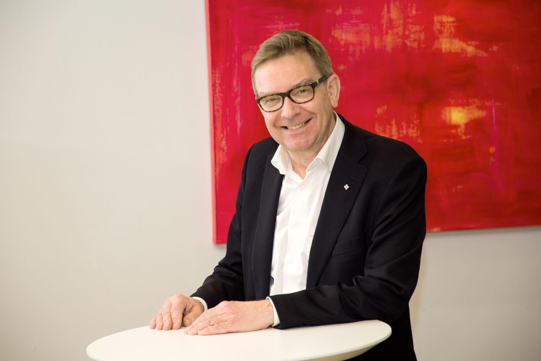 Samfundet Folkhälsans tidigare ordförande, hedersledamot Mats Brommels. Foto: Folkhälsan/Hannes Victorzon