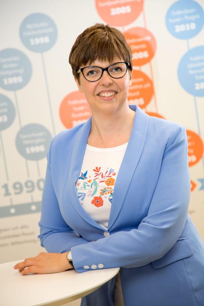 Siv Sandberg, styrelseordförande för Samfundet Folkhälsan. Foto: Folkhälsan/Hannes Victorzon